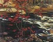 Red Maple by AY Jackson